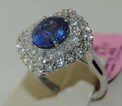 Striking Diamond & Sapphire Cocktail Ring