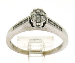 Delightful Diamond Cluster Ring