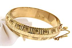 Fancy Domed Top Bangle