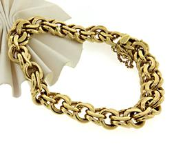 Heavy Gauge Double Link Bracelet