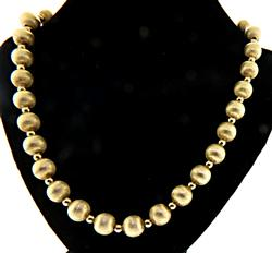 Magnificent  Gold Bead Necklace