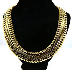 107.9 grams 14K Very Wide Woven Necklace