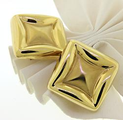 Very Stylish Large Square Earrings in 18K