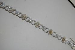 Fancy 18KT White Gold Diamond Bracelet