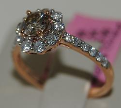18KT Rose Gold Diamond Cocktail Ring