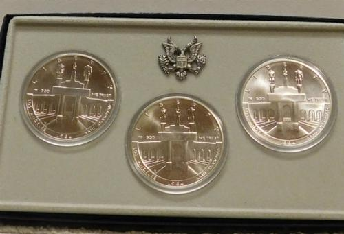 1984 3 piece Olympic Silver Dollars, Uncirculated
