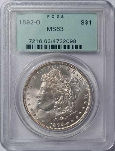 MS63 1892-O Morgan Silver Dollar, PCGS, OGH