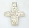 Large Glittering Sterling Cross Pendant