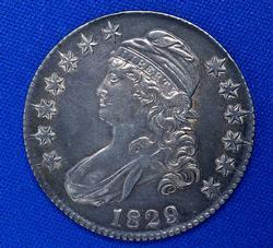Nicer 1829 Capped Bust Half Dollar, Rich Tones