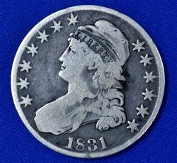 1831 Bust Half Dollar, Circ
