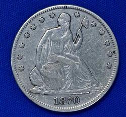 Nicer 1870 Seated Liberty Half Dollar