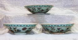 Antique Chinese Bowls - Set of 3