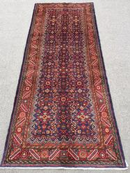 Handsome 1960s Authentic Handmade Vintage Persian Meshg-Abad