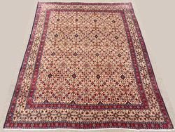 Simply Lovely 1940s Authentic Hand Woven Vintage Persian Moud-Mashad