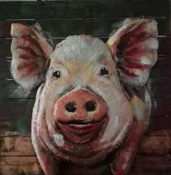 3D Decor Art Painting Pig Decorative Oil Painting