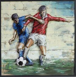 Soccer Football 3Dimensional Art Gallery Metal Wood Handmade