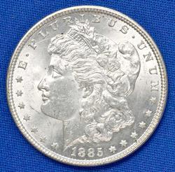 BU 1885 Morgan Silver Dollar