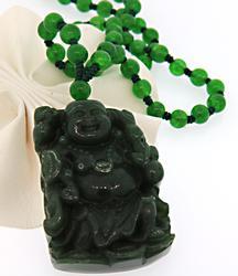 Natural Jade Buddha Necklace