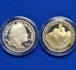2 US Capitol Historic  Society Sterling Medals