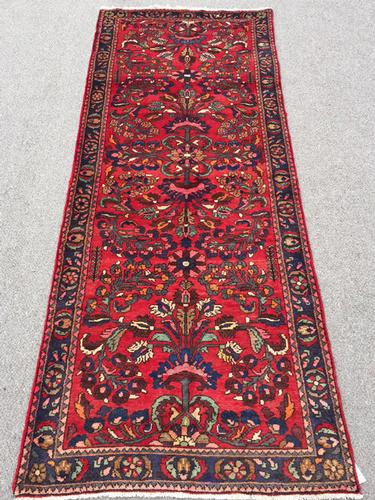 Delightful 1950s Authentic Hand Woven Vintage Persian Tafshanjian