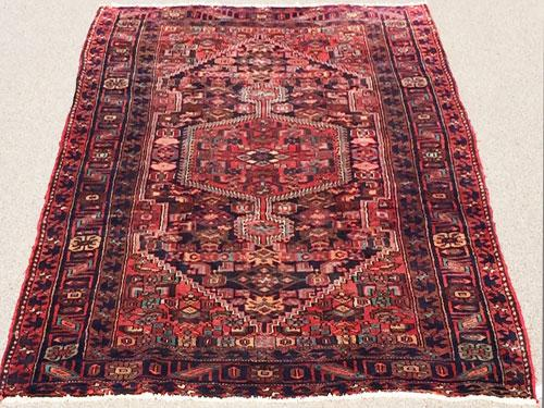 Enchanting Authentic Handmade Vintage Persian Rug