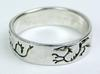 Vintage Southwest/Mexican Engraved Sterling Silver Band