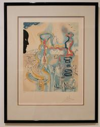After Dali Pencil signed abstract limited edition