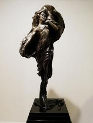 Beautiful Bobbi Carlyle patinated bronze sculpture
