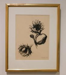 Beautiful Sunflowers mixed media hand signed 1992