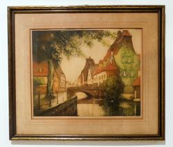 Limited edition Vintage engraving framed and