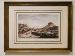 French lithograph decorative art with luxury frame.