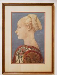Beautiful Photogravure of Portrait of a young lady.