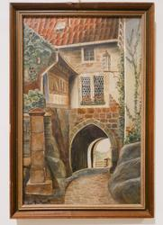 Beautiful Signed lithograph of an old european city