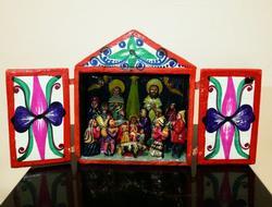 Handmade Nativity Scene Model
