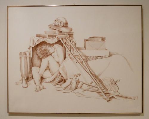 Original Sienna Prismacolor hand drawing