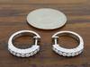 14K White Gold .50CTW Diamond Earrings