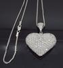 Approximately 6.00CTW Heart Shaped Diamond Necklace