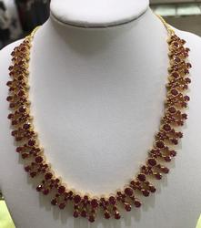 Amazing 22kt Gold and 22 Carat Ruby Necklace