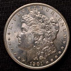 1901-O Uncirculated Morgan Silver Dollar