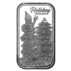 Holidays Wishes Fine Silver 1oz Bar