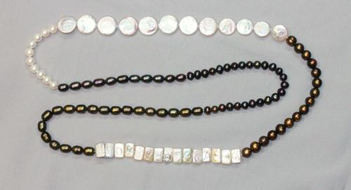 Fanciful Pearl Necklace - 44 Inches!