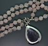 Gorgeous Simon Sebbag Pink Quartz Necklace w/ Sterling