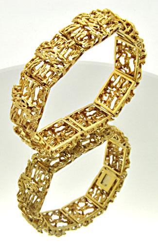 LADIES 18 KT YELLOW GOLD BRACELET 39.1 GRAMS!!