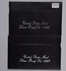 1995 and 1997 US Silver Proof Sets