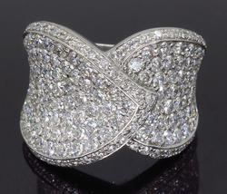 14K White Gold 2.44CTW Diamond Ring