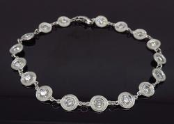 18K White Gold Bezel Set Diamond Bracelet