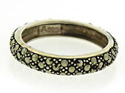 Sterling Silver Pave set Eternity Ring