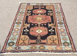 Lovely 1960s Authentic Handmade Vintage Persian Shirvan