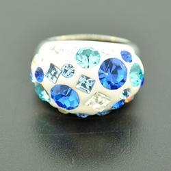 Fashionable Preciosa Crystal Cocktail Ring
