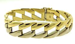 Trendy Two Tone Open Link Bracelet